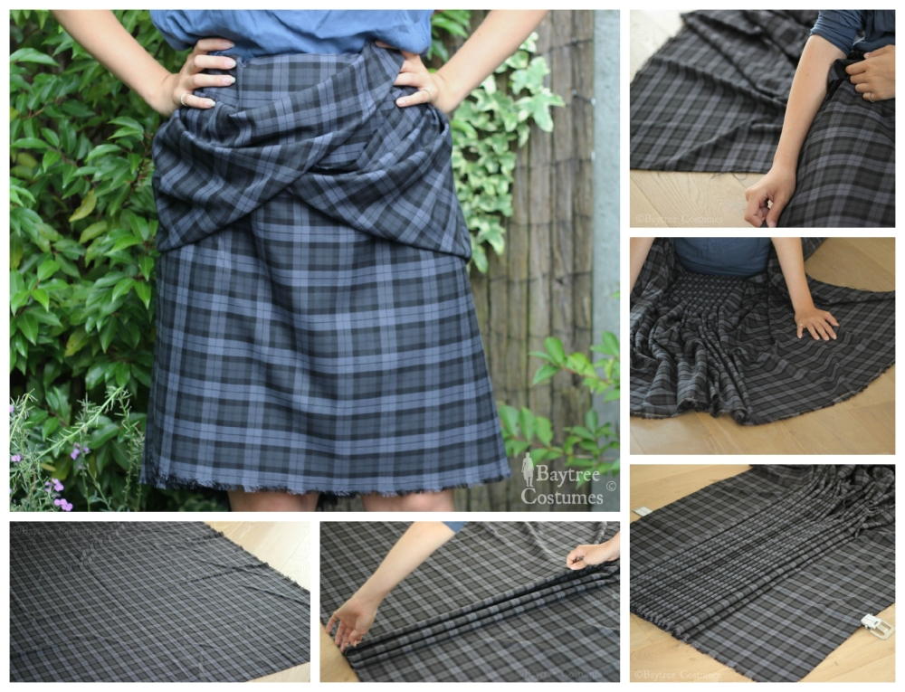 How to make an Outlander costume – Part 1: Arisaid / Great Kilt (4/6)